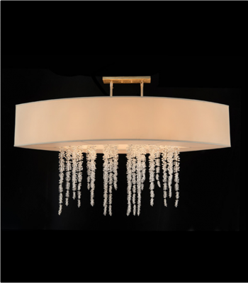 CHANDELIER  AJC 8883 CRYSTAL WATERFALL 60.5W 22D 41H