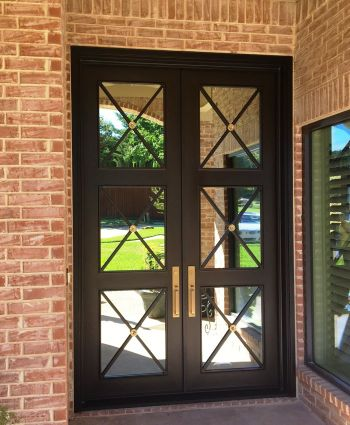 MODERN DOUBLE IRON DOORS