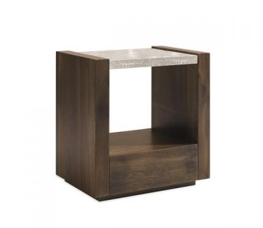 NIGHTSTAND BEST IN GLASS 25.5W 17D 26H