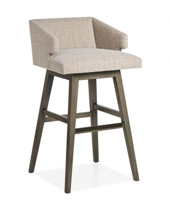 SAVANNAH LOW BACK MEMORY SWIVEL BARSTOOL 23.25W 23D