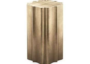 SIDE TABLE GOLD IS UP 16Wx16Dx25H