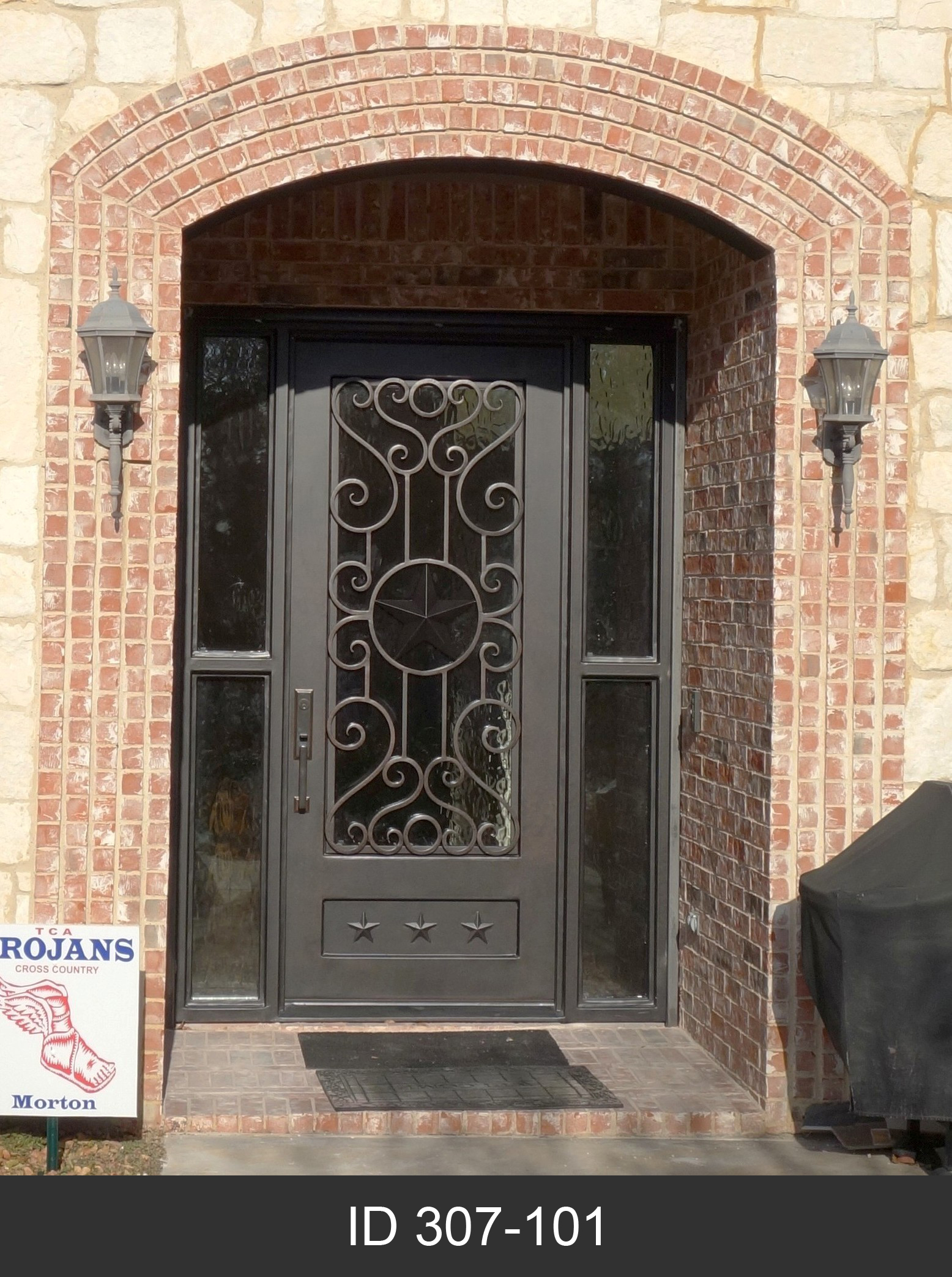 porteusa double iron goth door clear pinterest wrought on best glass black gothic images doors color