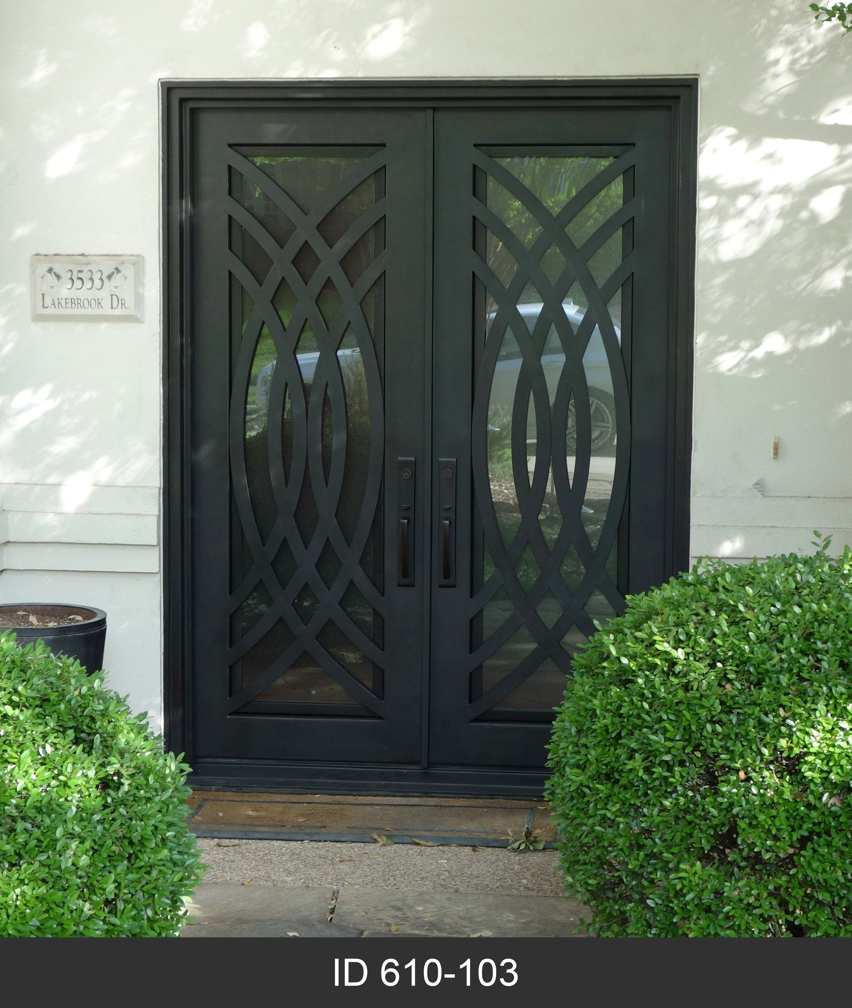Modern double iron doors d hierro plano tx